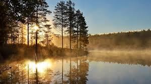 Dimman smyger in över sjön på kvällarna!
