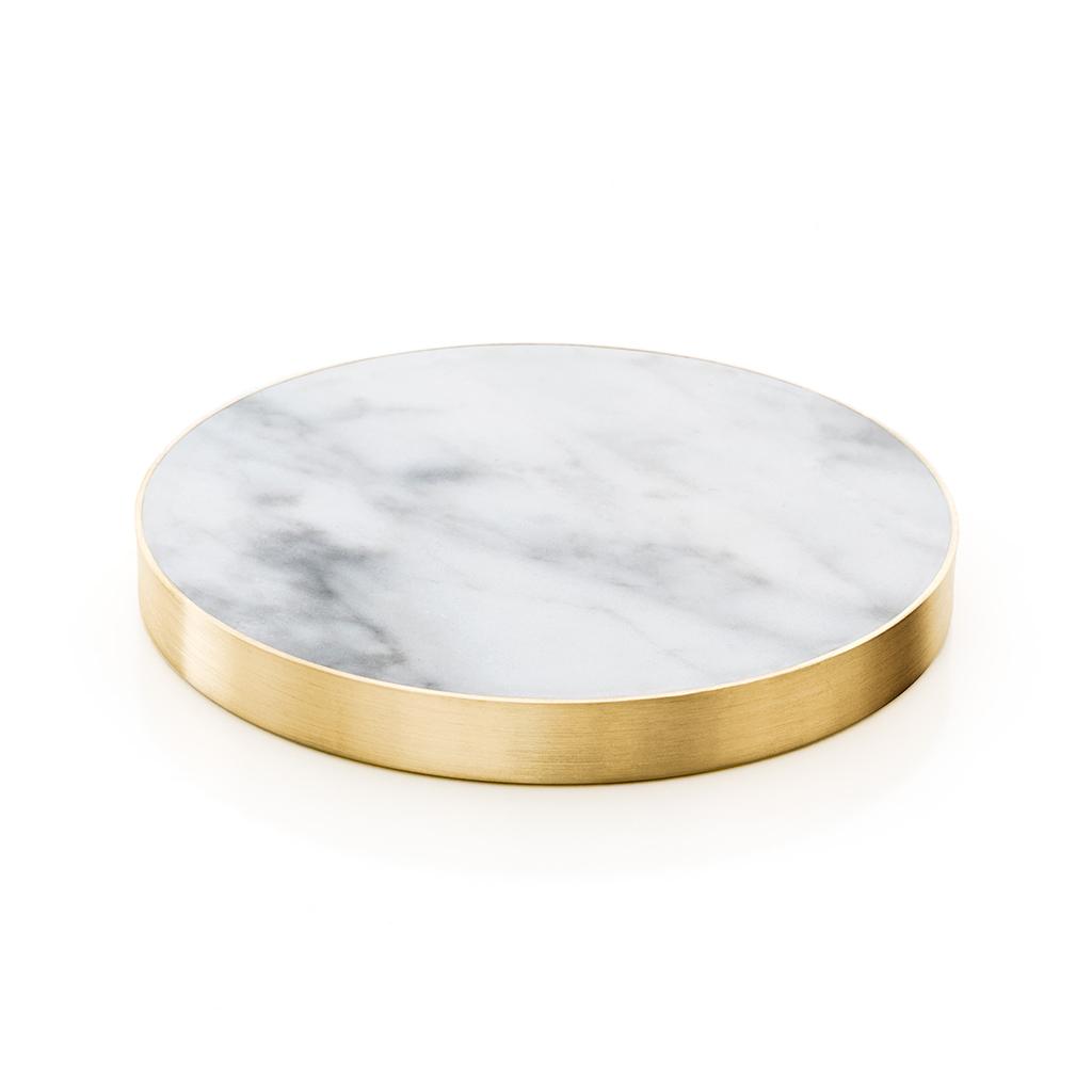 glasunderlägg carrara marmor