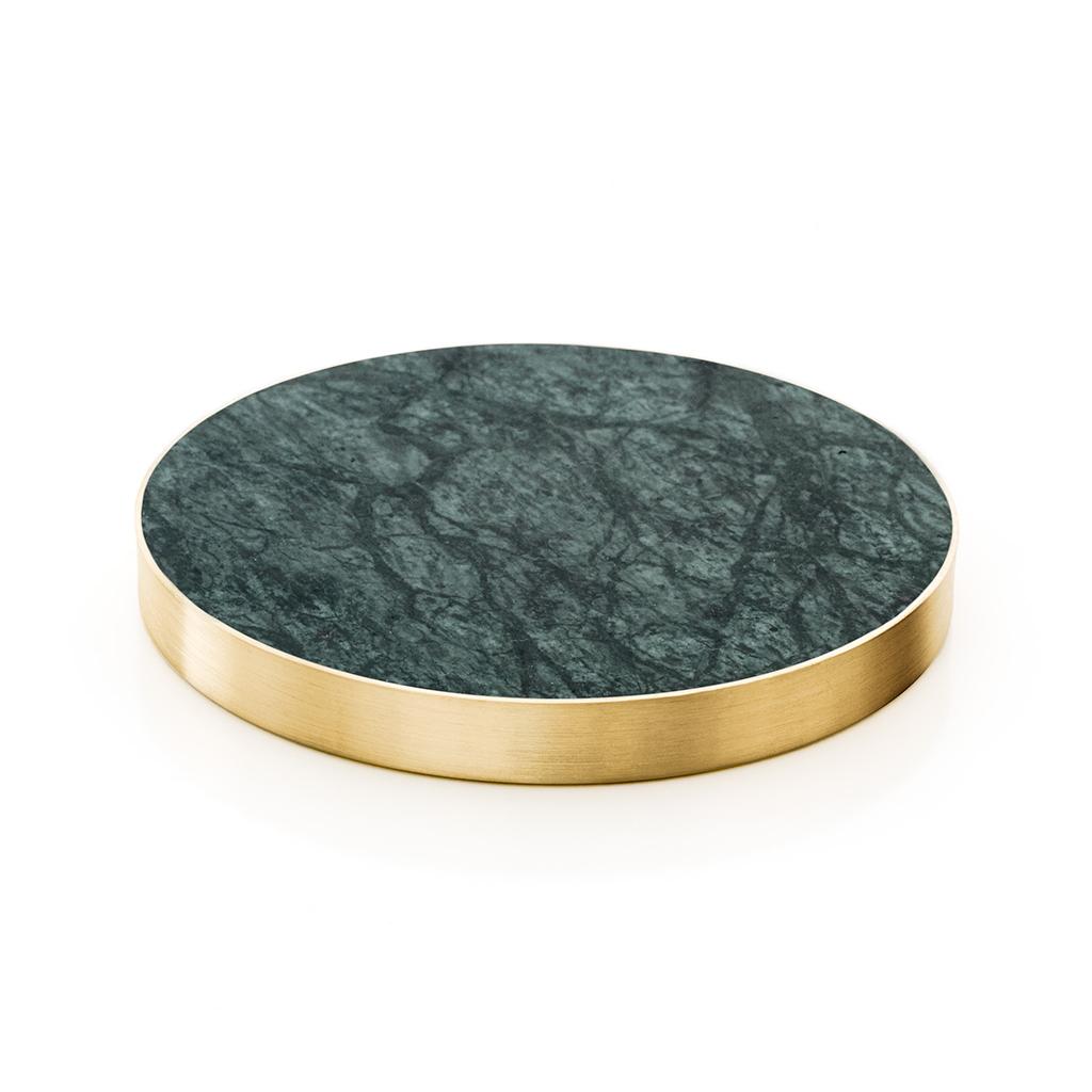 glasunderlägg grön marmor