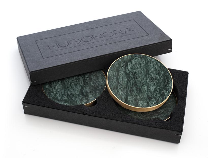 underlägg grön marmor