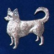 Chihuahua Brosch Kenart - Chihuahua silverfärgad