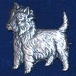 West Highland White Terrier Brosch Kenart