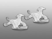 Afghan manschettknappar par - Silver