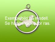 Agilityhinder hängsmycke med cirkel - Silver
