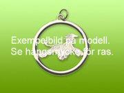 Basset Hound hängsmycke med cirkel - Silver