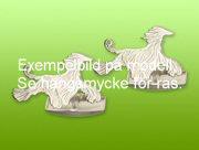 Chinese Crested Powder Puff manschettknappar par - Silver