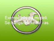 Chinese Crested Dog nål med cirkel - Silver