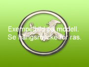Foxterrier nål med cirkel - Silver
