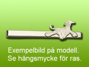 Bostonterrier slipsklämma - Silver