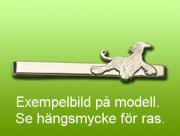 Bedlingtonterrier slipsklämma - Silver