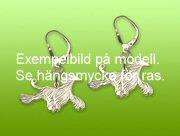 Bedlingtonterrier örhänge par - Silver