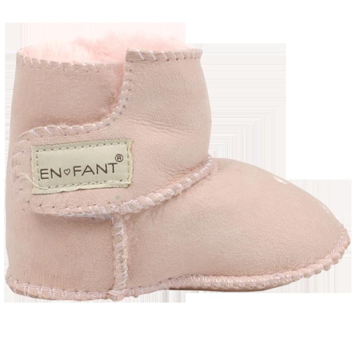 EnFant-Fårskinnstoffel-Rosa