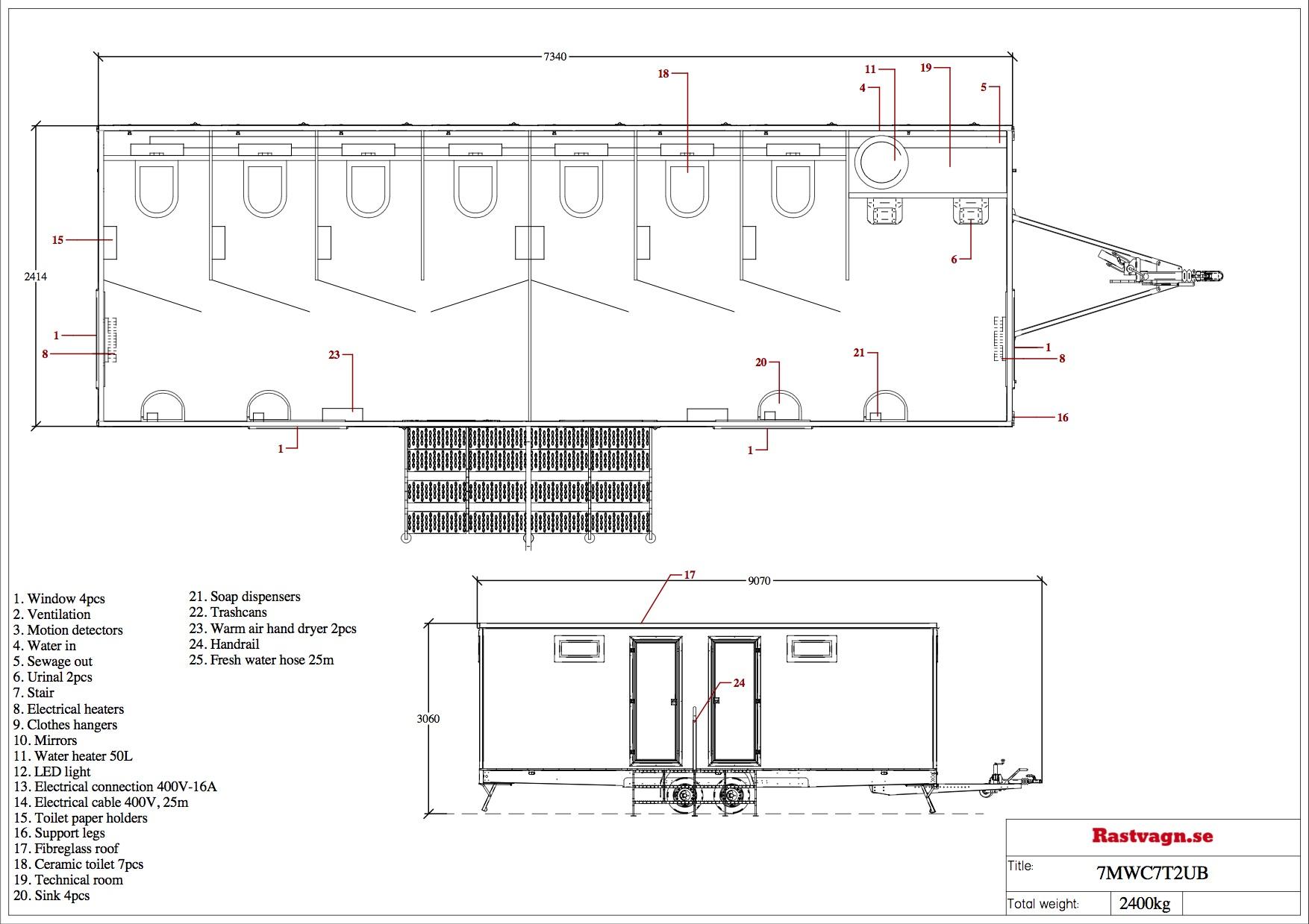 Toalettvagn - 7MWC7T2UB