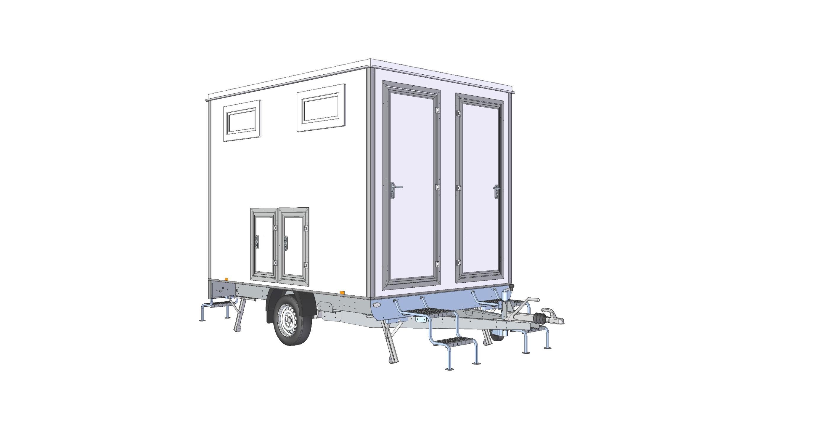 Toalettvagn 4P-WC Vattenspolande