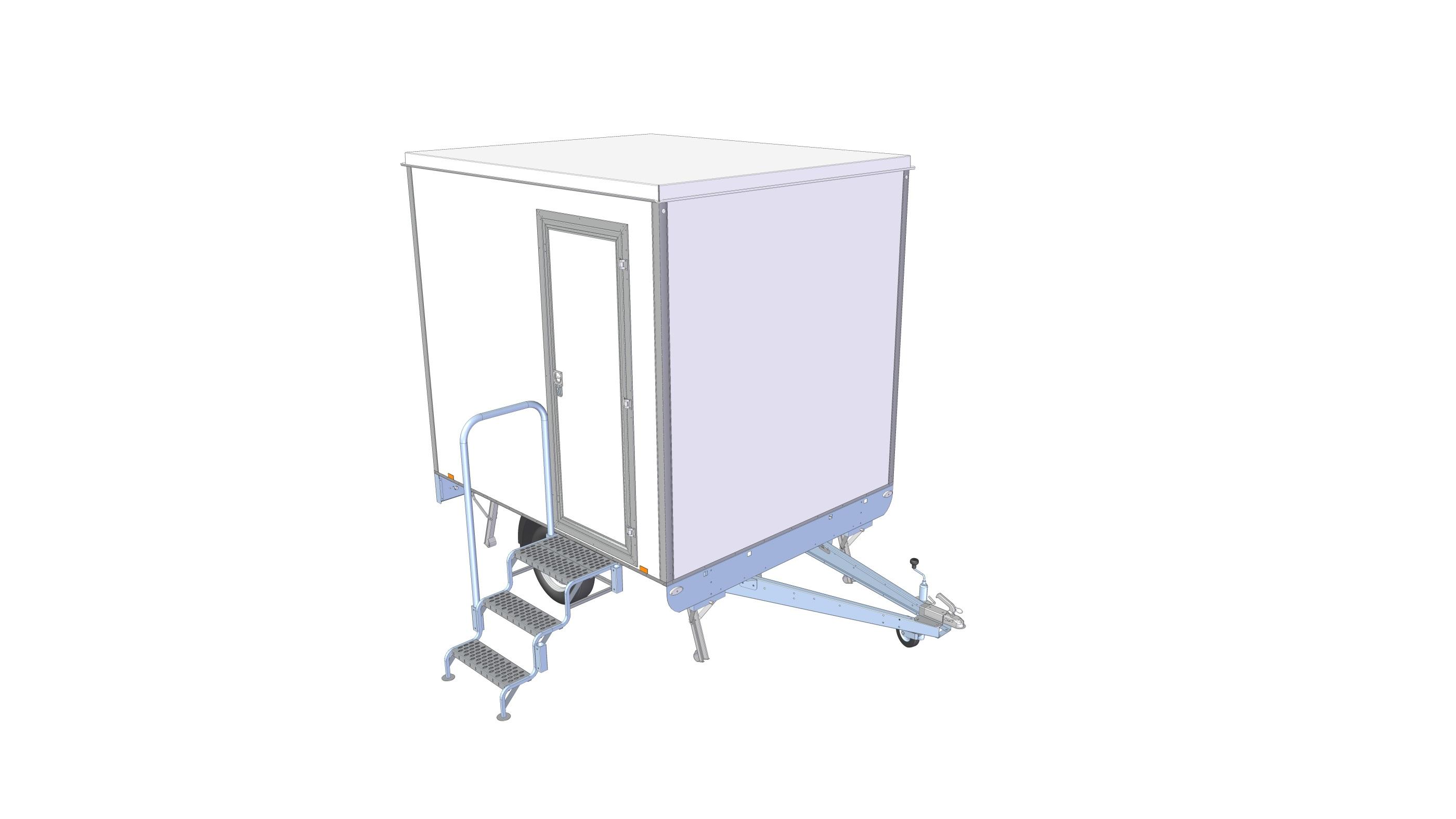Toalett / Duschvagn 1P