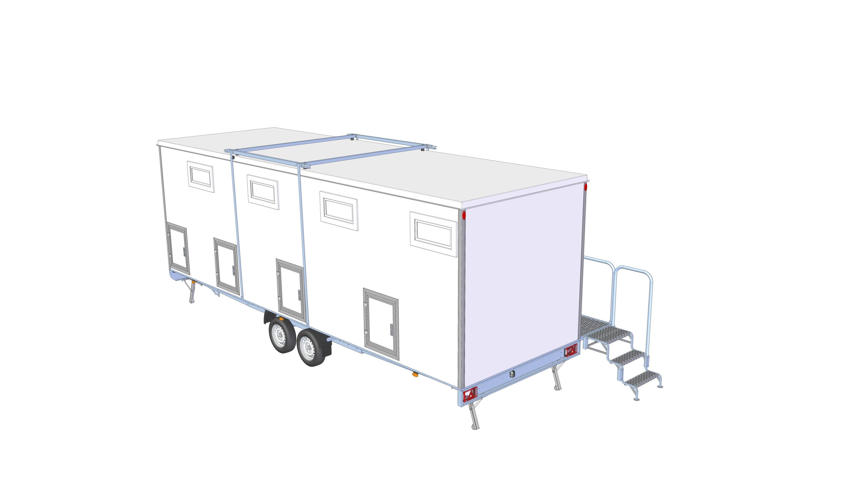 Toalett / duschvagn 4P