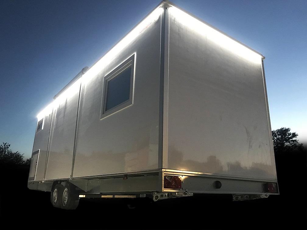 Dusch / Toalettvagn 3P - Vanligt Avlopp Delux
