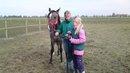 En flicka och hennes häst