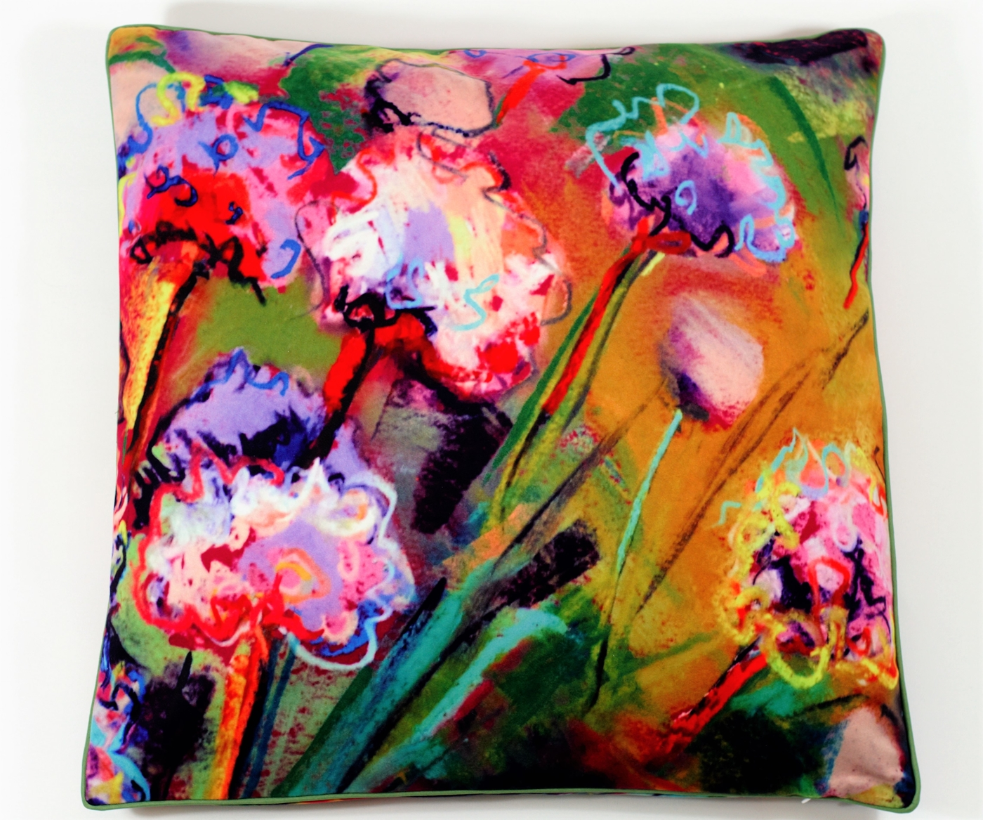 Cushion cover: beach flowers, 50x50 cm