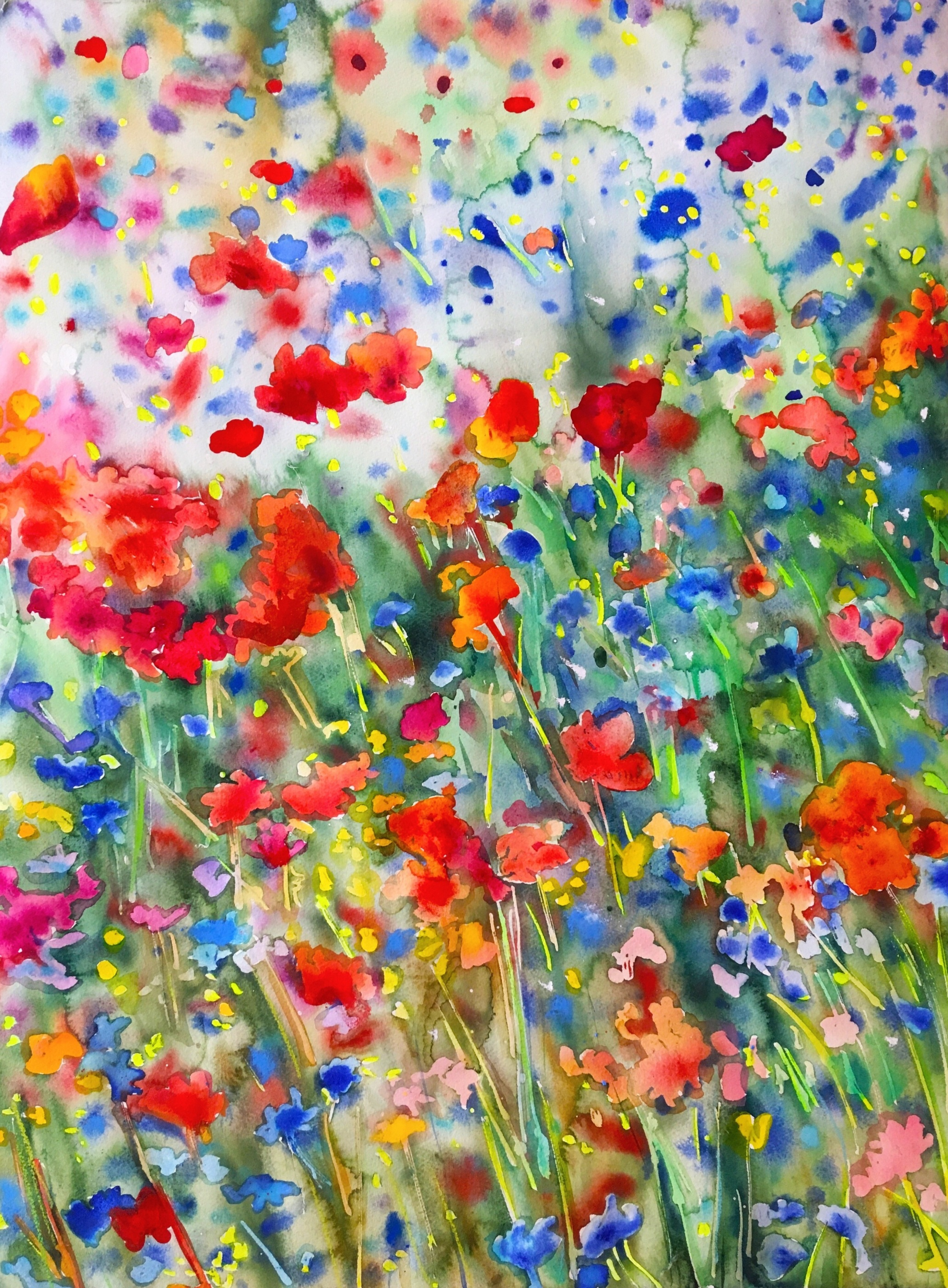 Watercolor Paintings Flowers Art By Afzelius Alm Art Swedish