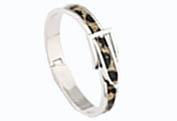Bältesarmband silverfärg Leopard - Bältesarmband Leopard