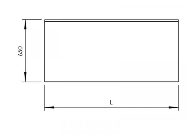 Rostfri arbetsbänk med bakkant 60 cm