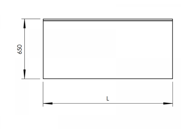Rostfri arbetsbänk med bakkant 80 cm