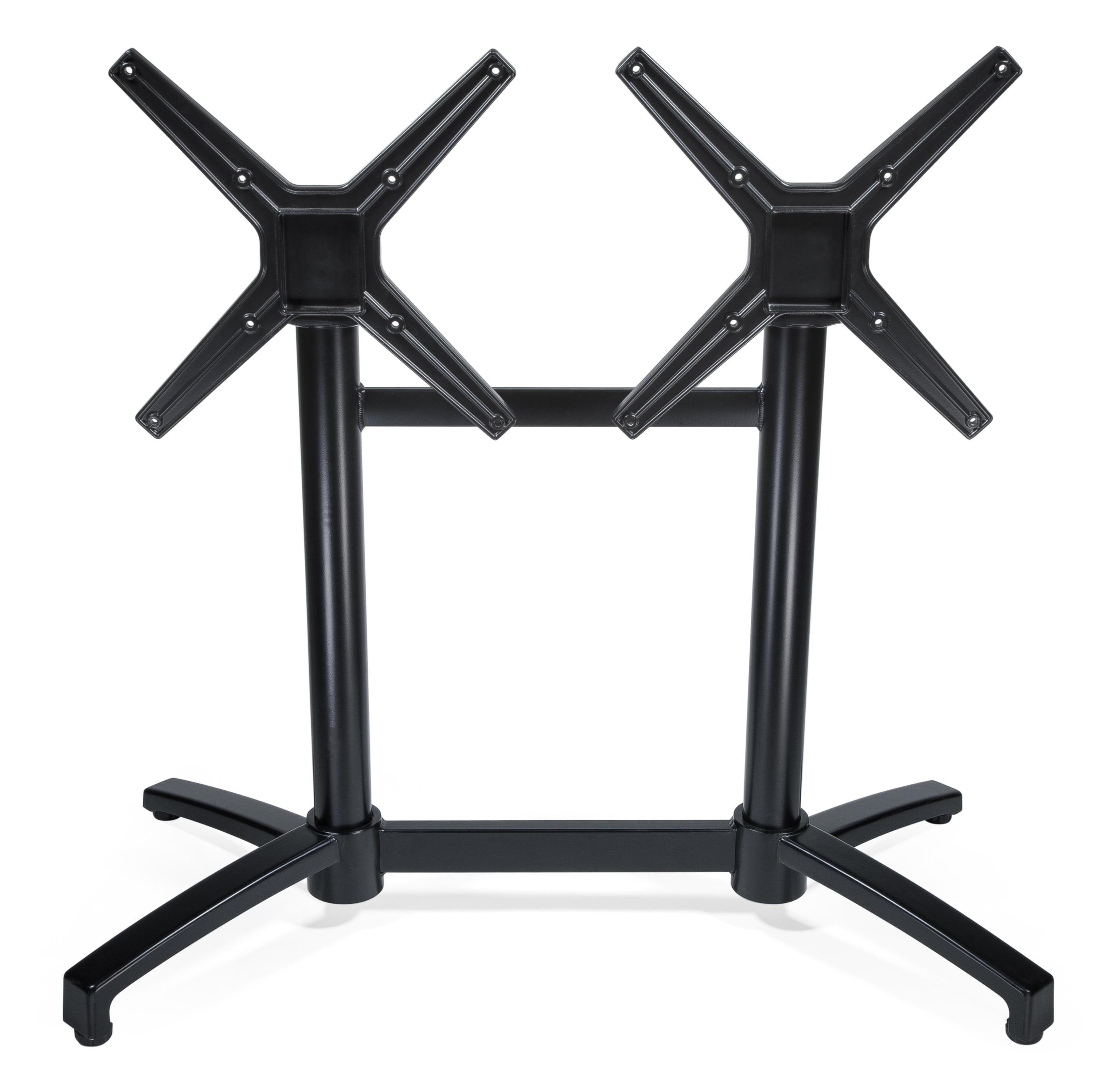 Bordsstativ rektangulärt fällbart, svart