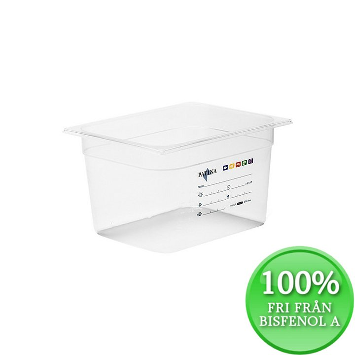 Plastkantin, bisfenolfri, GN 1/2-200 mm
