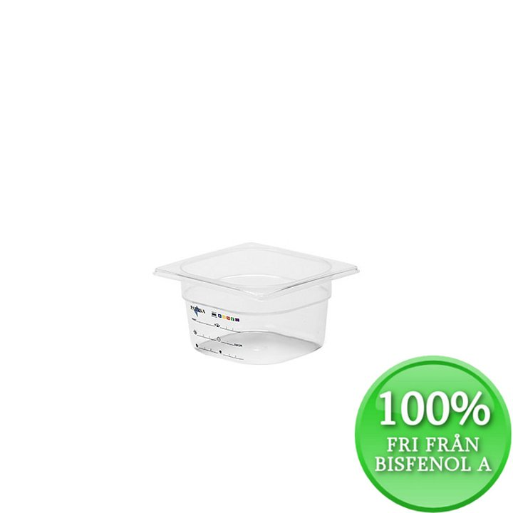 Plastkantin, bisfenolfri, GN 1/6-100 mm