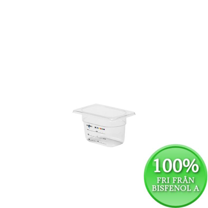 Plastkantin, bisfenolfri, GN 1/9-100 mm