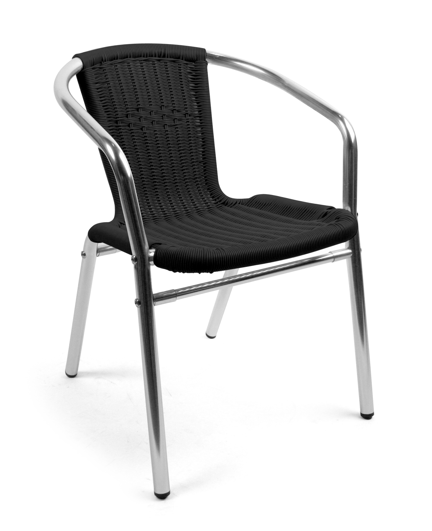 Alu-Bistro karmstol svart