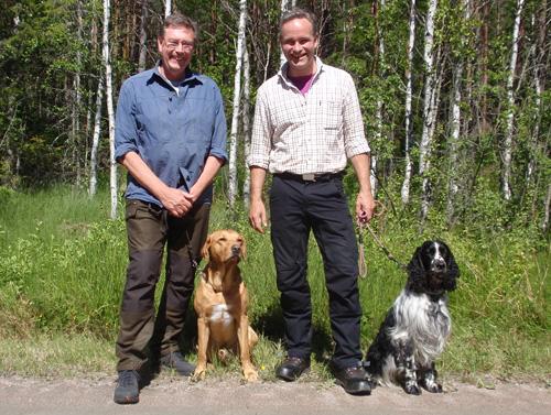 När dagen var slut och grillkolen slocknat kom resultatet. Det ekipage som deltar för SSRK/Östra blev Kalle Hildingsson med Springjoyjosh (till höger) och reservekipage blev Björn Karlsson med Twigg's all The Time. Vi önskar stort lycka till på SM 2015.