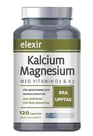 Supertabletten med Kalcium Magnesium 120 tabletter - Elexir Kalcium Magnesium 120 tabletter