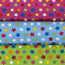 Mönstrad trikå - Stjärnor Cerise Tryckt singlejersey. 95% bomull 5% elastan. 150 cm bredd