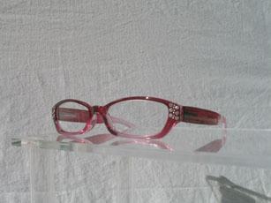 Läsglas rosa graderad strass