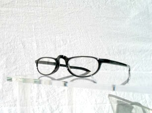 Läsglas oval svart