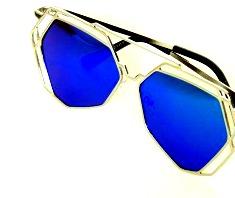 Solglas Napoli blå silver eller guld