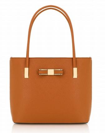 ljusbrun stor handväska
