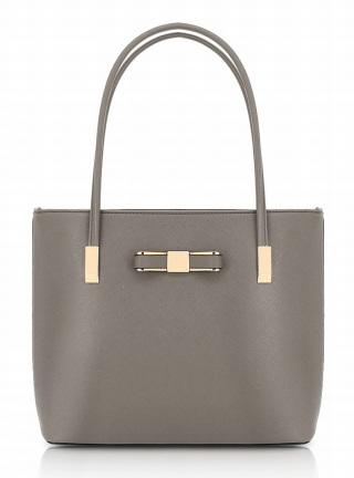 grå stor handväska