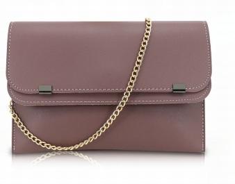 lila liten handväska