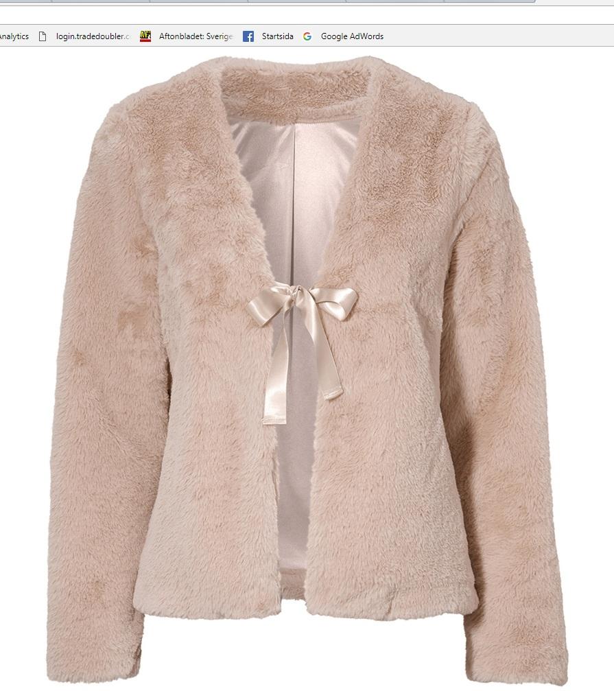 desiree fur jacket rose
