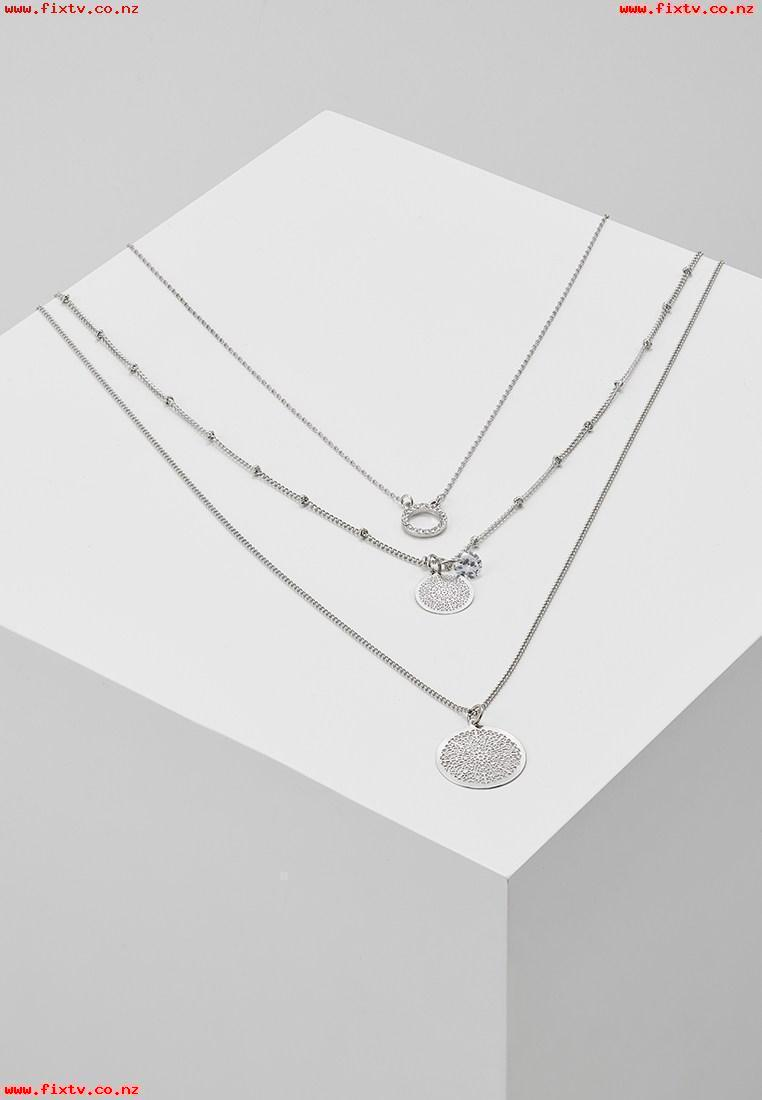 ONLY ONLFLARA 3 CHAIN NECKLACE 2 PACK Necklace silvercoloured