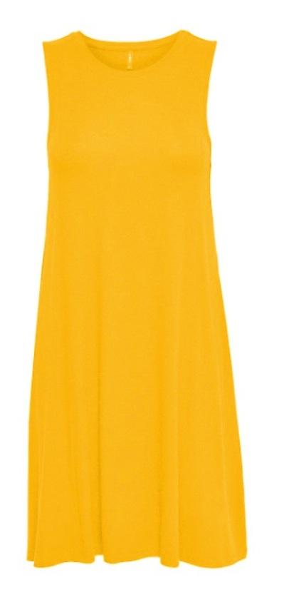 gul moster klänning