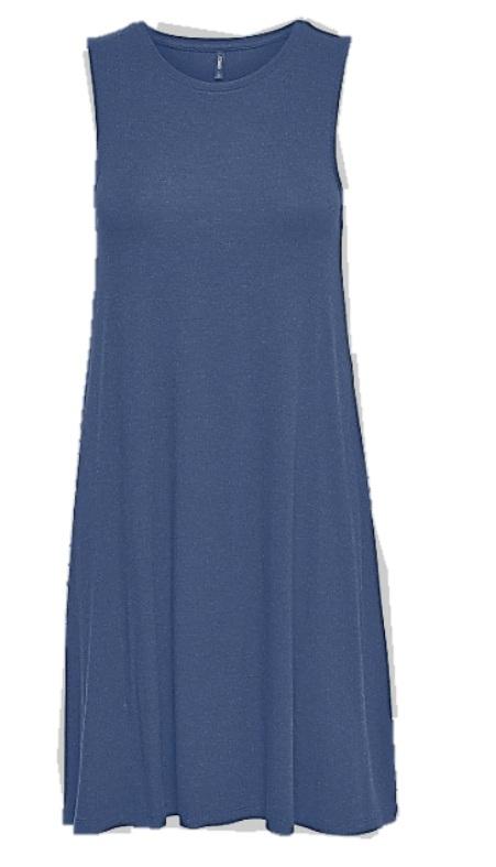 marinblå moster klänning
