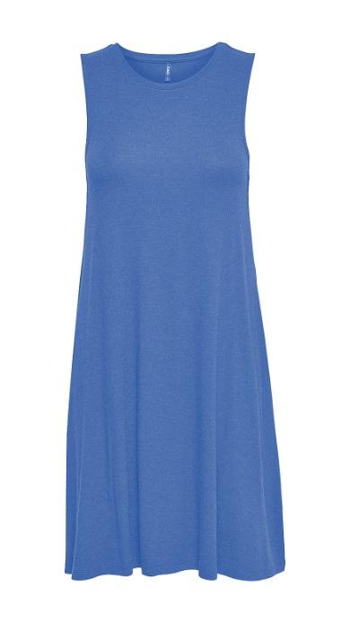 blå moster klänning