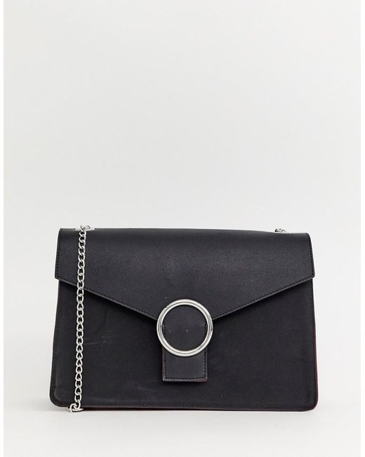 pieces-black-Kaori-Handbag-With-Chain-Strap