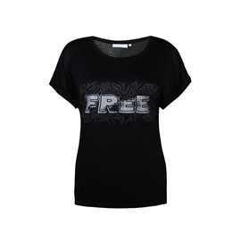 svart t-shirt tryck