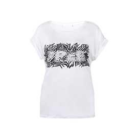 vit t-shirt tryck