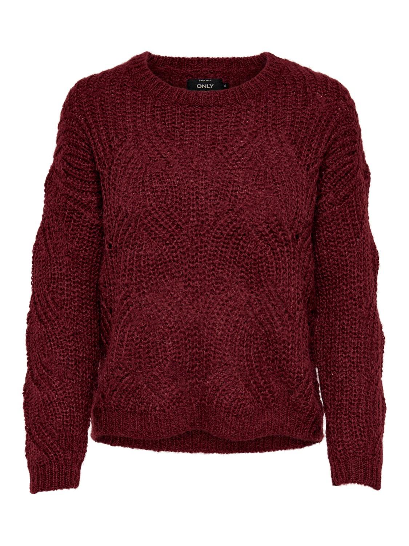 vinröd tröja
